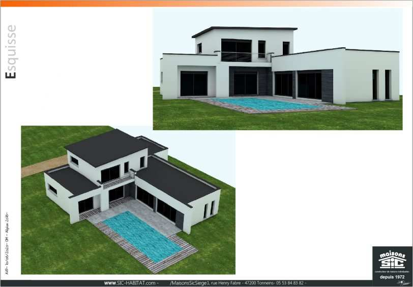 Plan 3D projet delmas