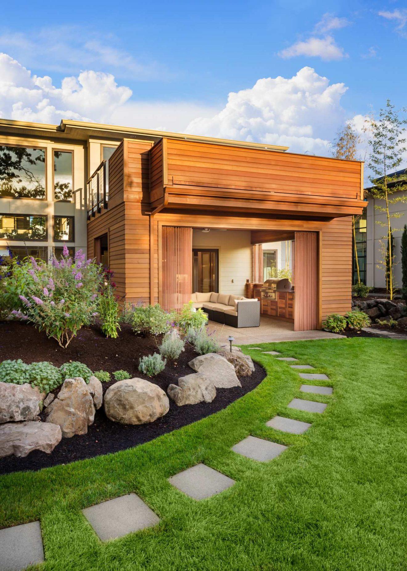 jardin maison neuve construction domotique