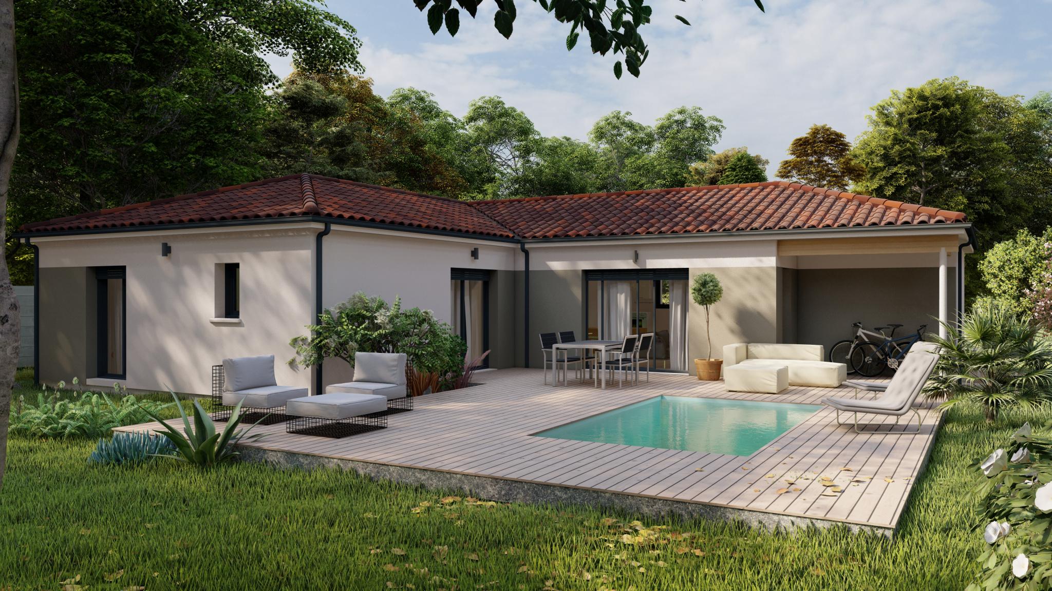 Vente maison à Amou (40330) de 120 m2 habitable sur terrain de 905 m2