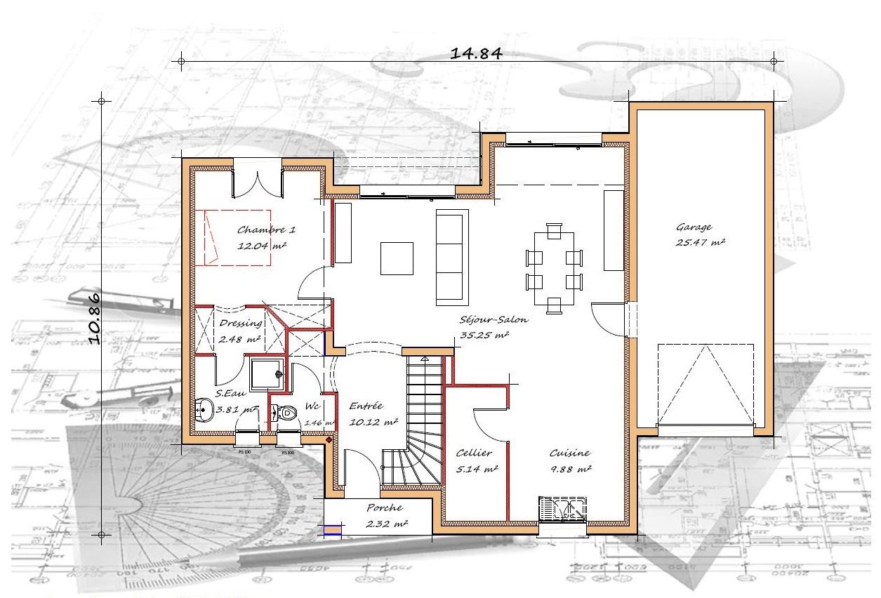 Vente maison à Amou (40330) de 125 m2 habitable sur terrain de 905 m2