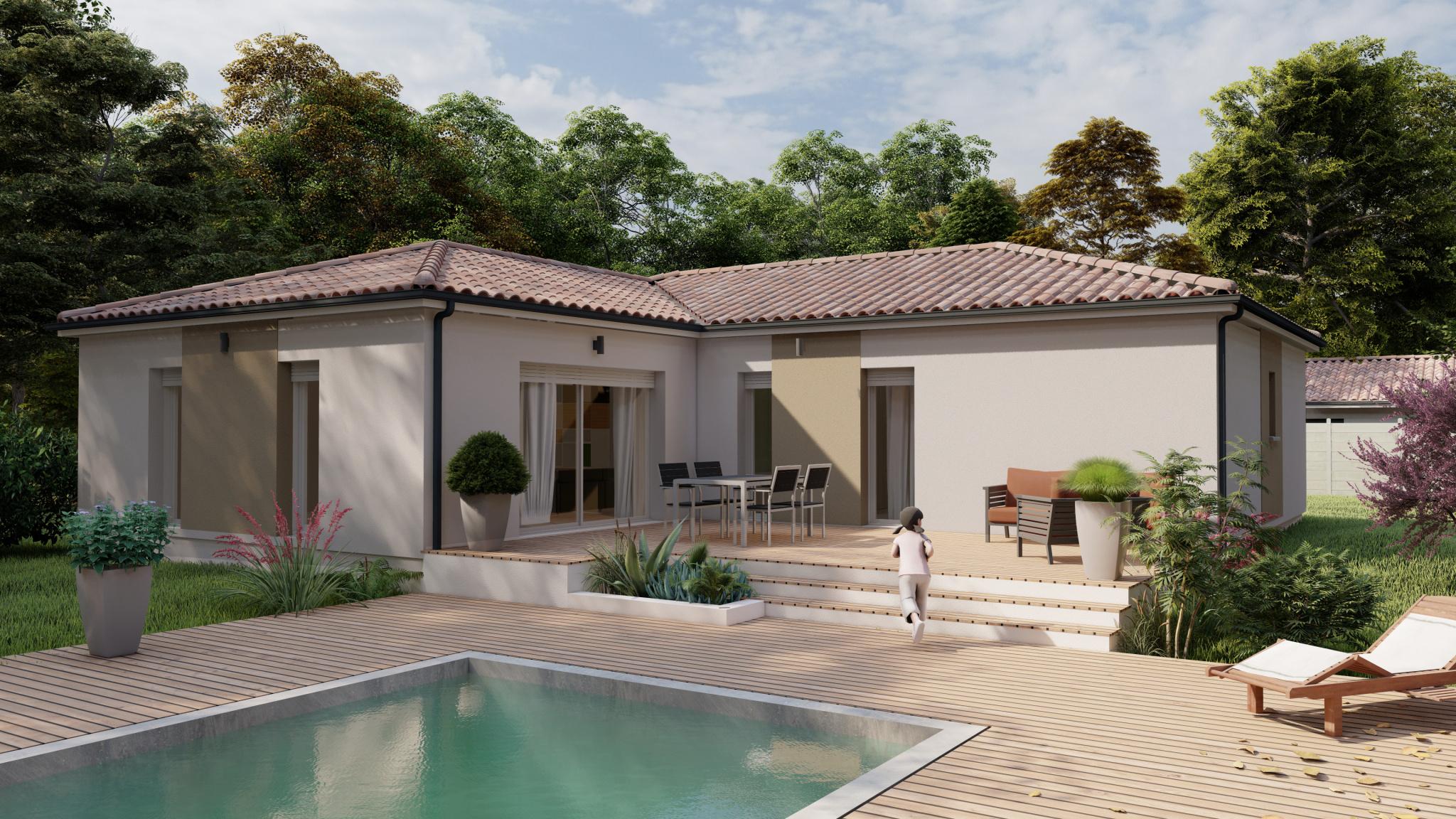 Vente maison à Bajamont (47480) de 112 m2 habitable sur terrain de 1000 m2