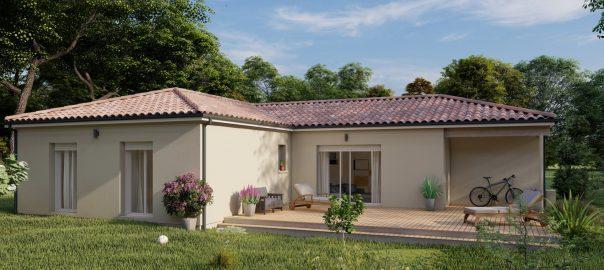 Vente maison à Bretagne de marsan (40280) de 110 m2 habitable sur terrain de 686 m2