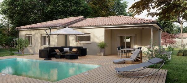 Vente maison à Bretagne de marsan (40280) de 90 m2 habitable sur terrain de 686 m2