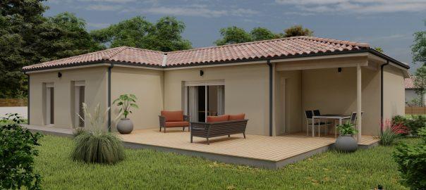 Vente maison à Escondeaux (65140) de 90 m2 habitable sur terrain de 1560 m2