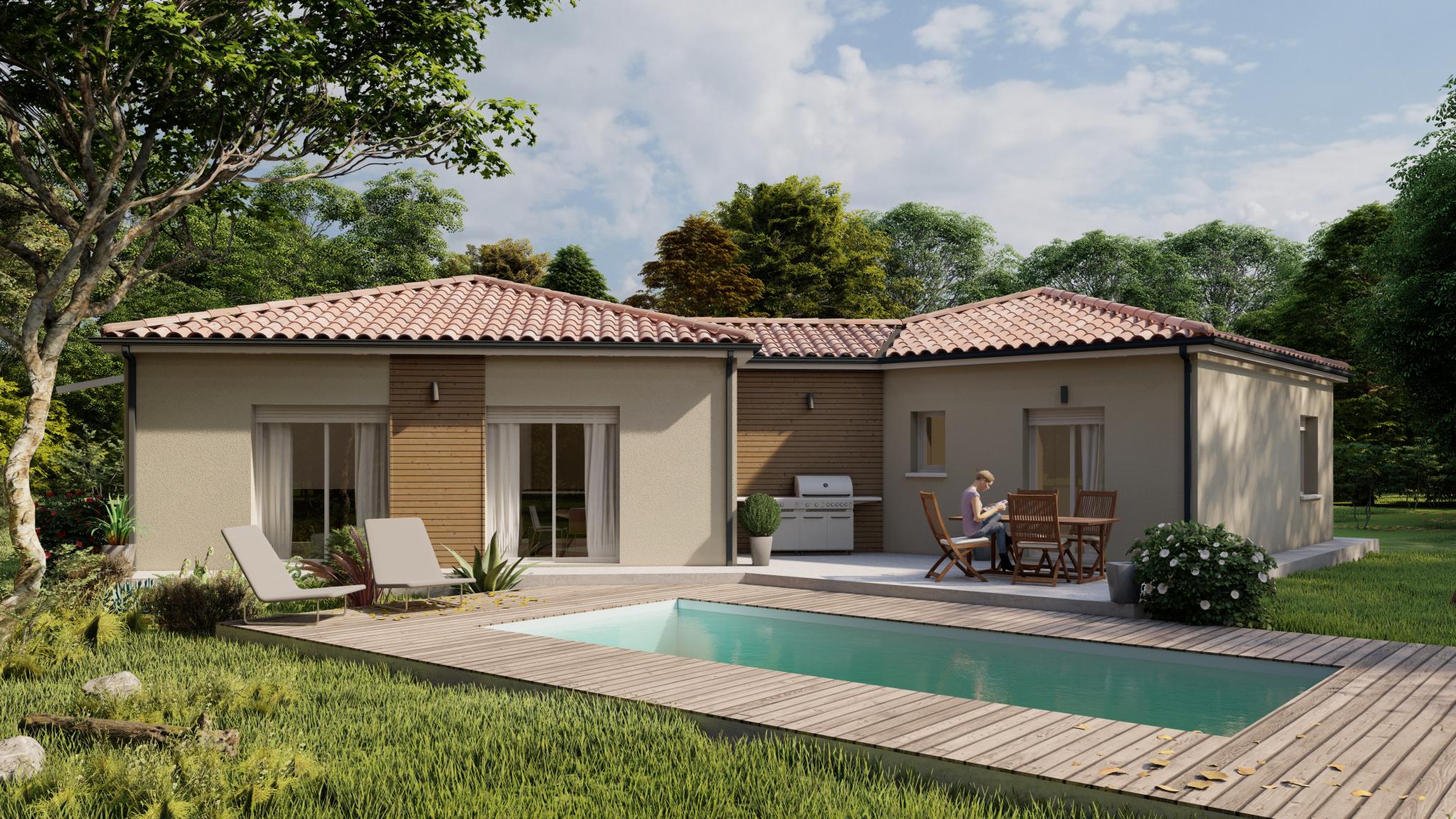 Vente maison à Laplume (47310) de 94 m2 habitable sur terrain de 2150 m2