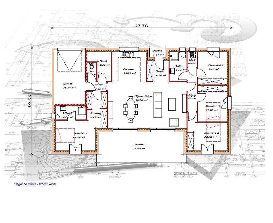 Vente maison à Le passage (47520) de 125 m2 habitable sur terrain de 1143 m2