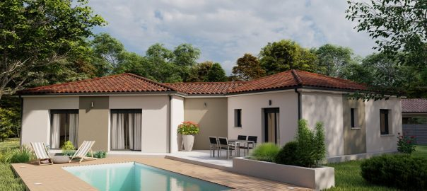 Vente maison à Mont de marsan (40000) de 108 m2 habitable sur terrain de 1075 m2