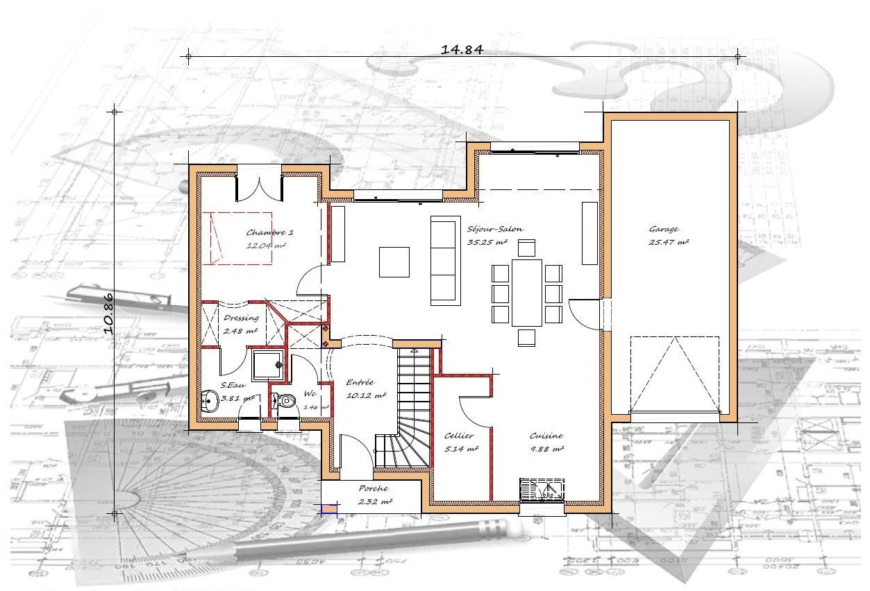 Vente maison à Mugron (40250) de 125 m2 habitable sur terrain de 773 m2