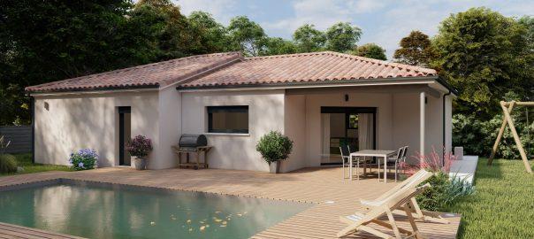 Vente maison à Castelculier (47240) de 102 m2 habitable sur terrain de 721 m2