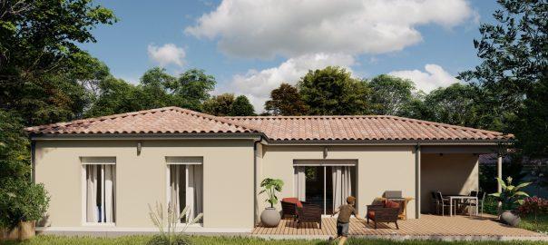 Vente maison à Castelculier (47240) de 90 m2 habitable sur terrain de 539 m2