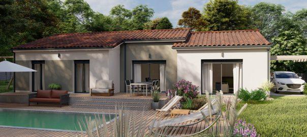 Vente maison à Colayrac st cirq (47450) de 108 m2 habitable sur terrain de 1700 m2
