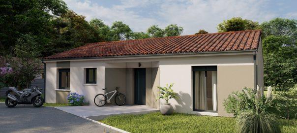 Vente maison à Mont de marsan (40000) de 90 m2 habitable sur terrain de 700 m2