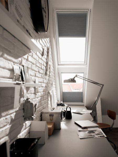 construction d'un bureau lumineux.