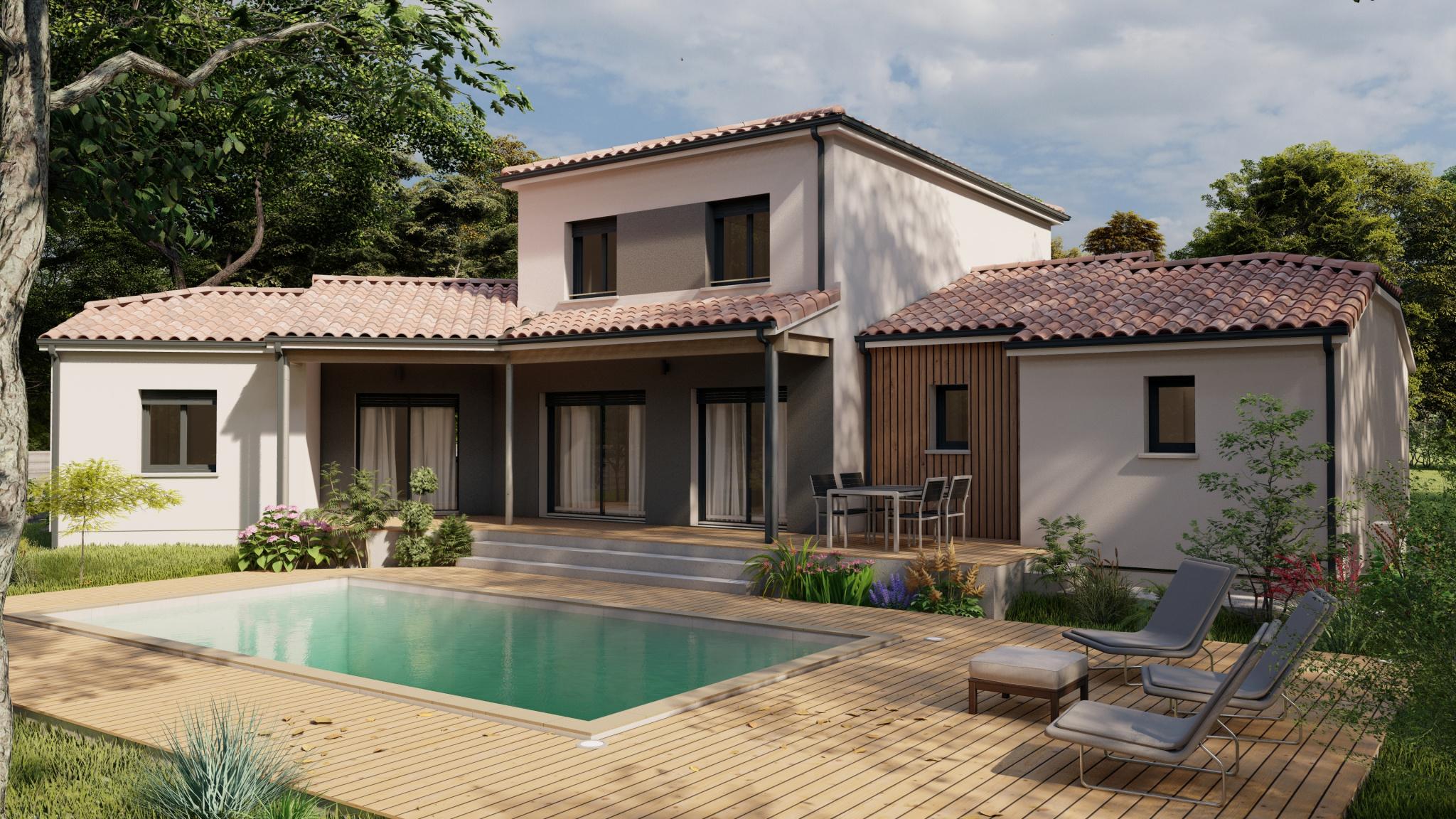 Vente maison à Aressy (64320) de 152 m2 habitable sur terrain de 490 m2