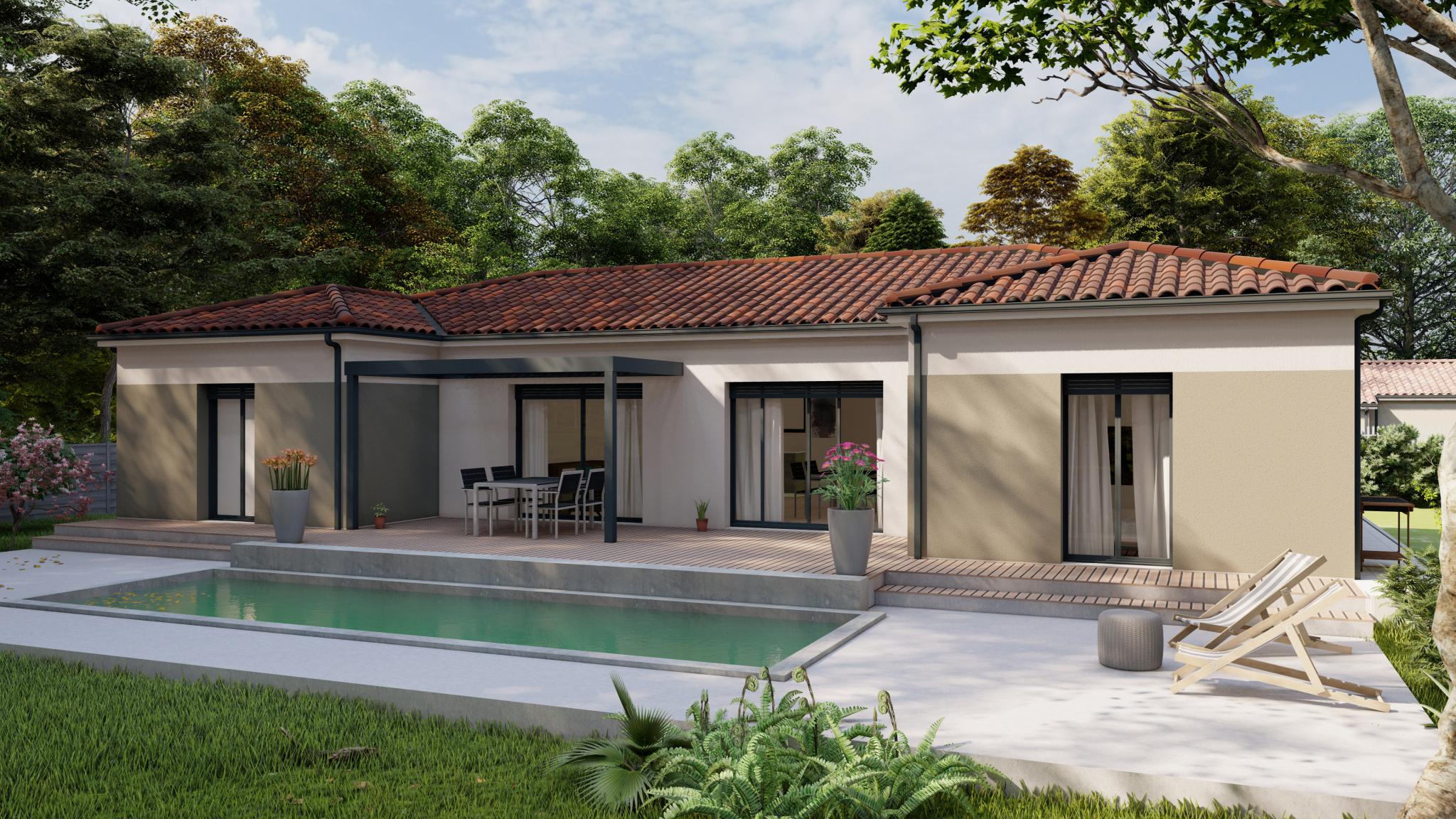 Vente maison à Astaffort (47220) de 125 m2 habitable sur terrain de 1689 m2