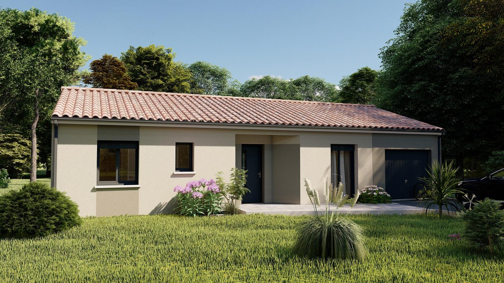 Vente maison à Bajamont (47480) de 90 m2 habitable sur terrain de 500 m2