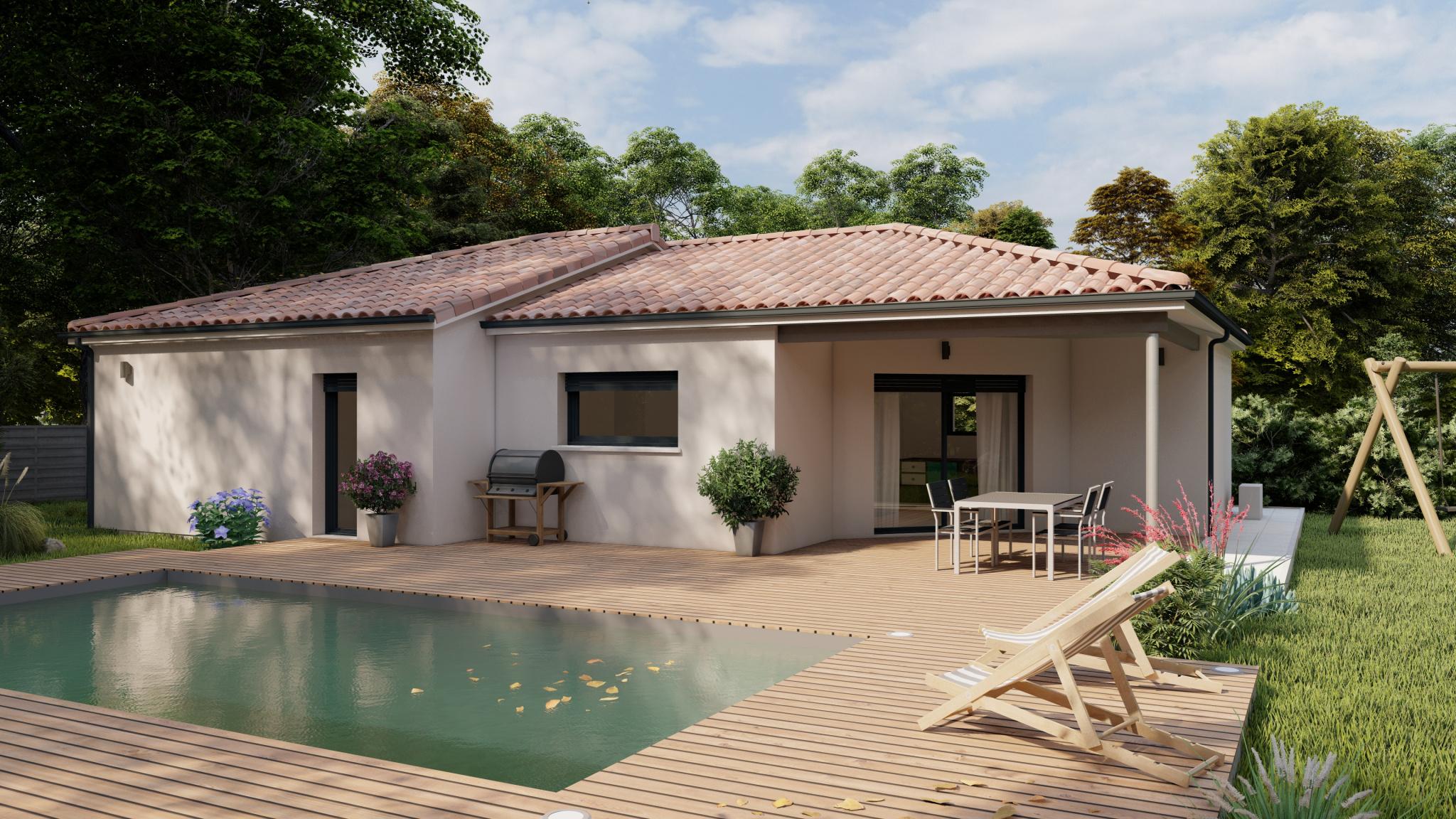 Vente maison à Bas mauco (40500) de 102 m2 habitable sur terrain de 690 m2