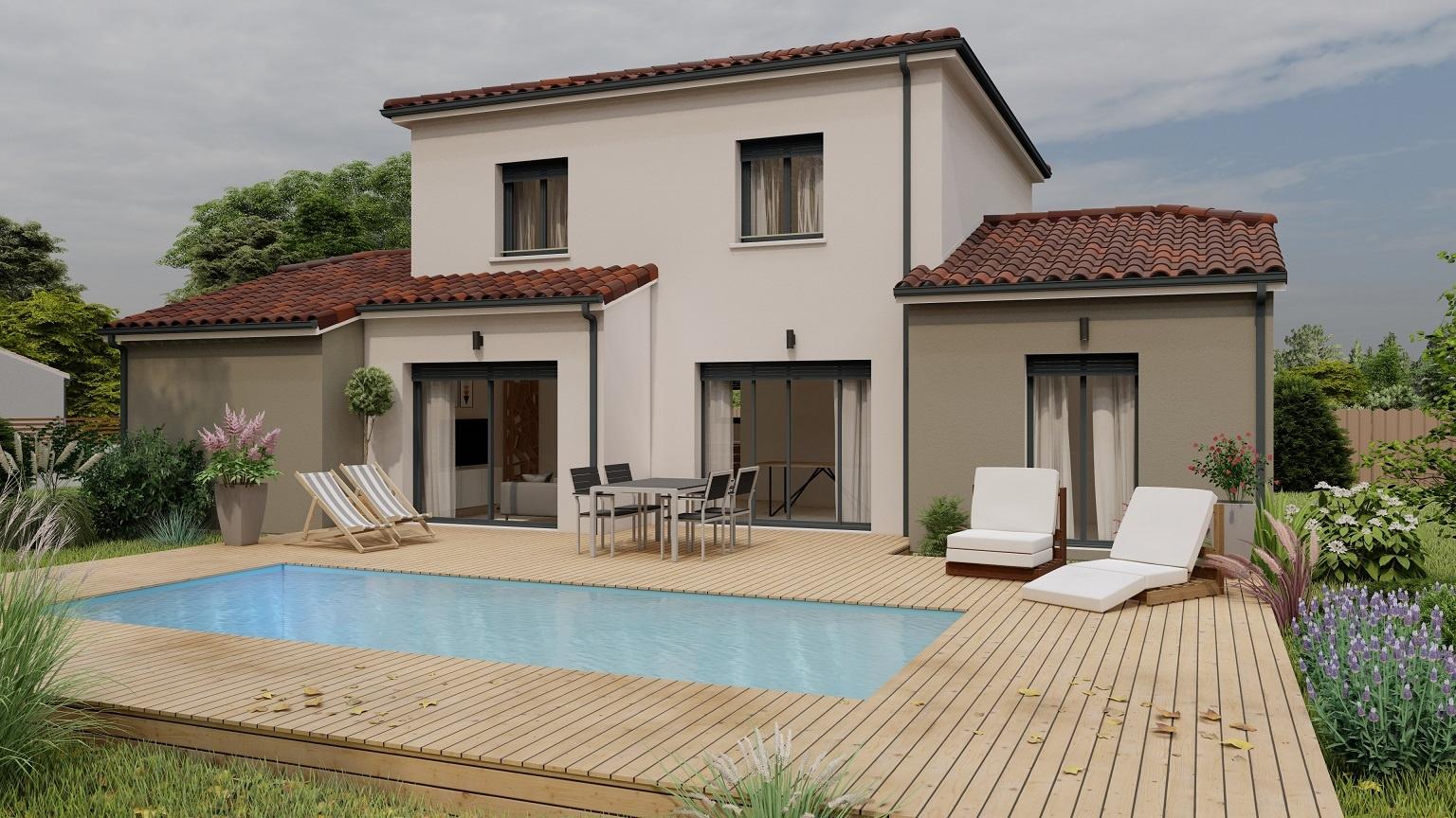 Vente maison à Benejacq (64800) de 125 m2 habitable sur terrain de 809 m2