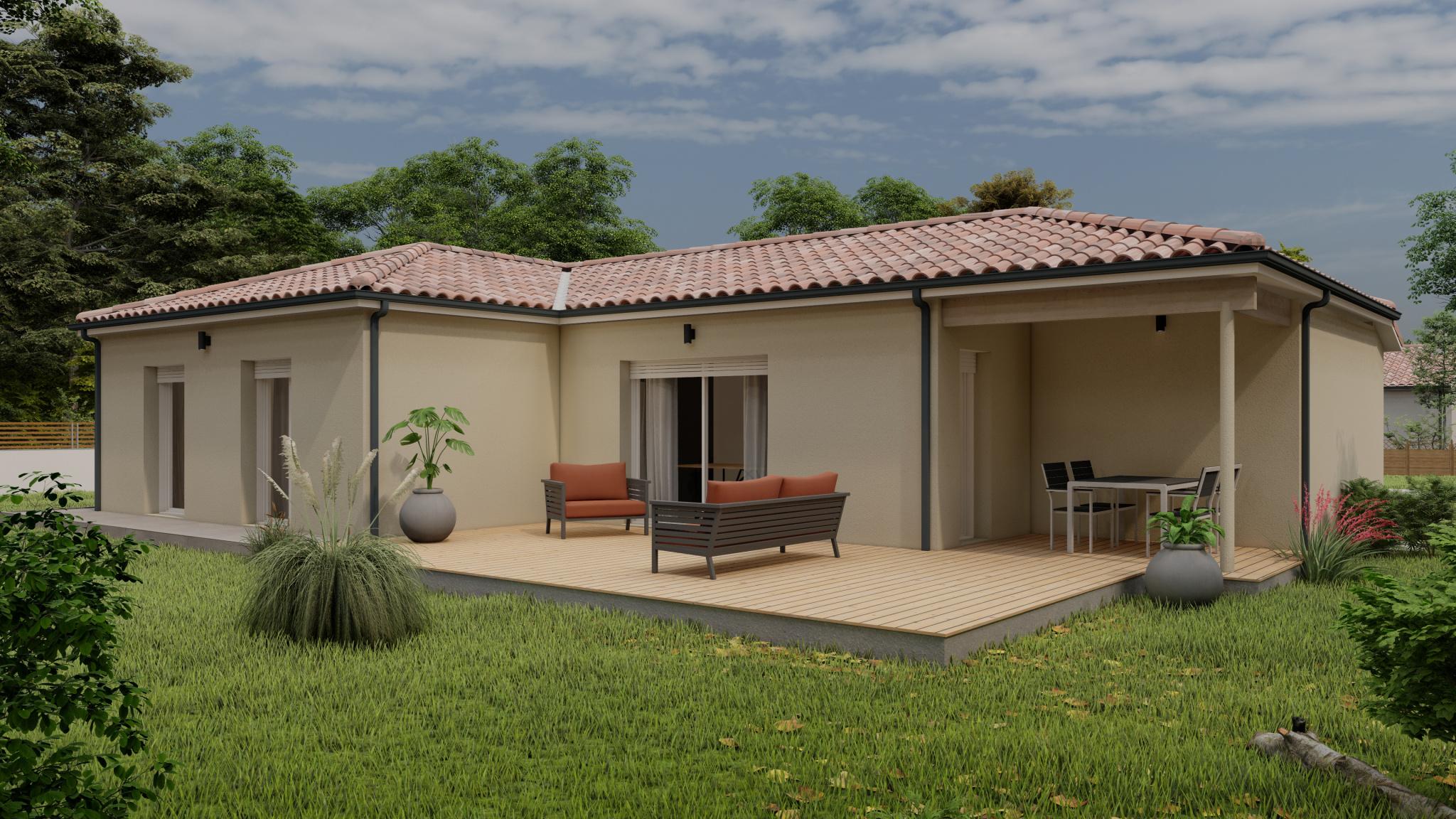 Vente maison à Campagne (40090) de 90 m2 habitable sur terrain de 728 m2