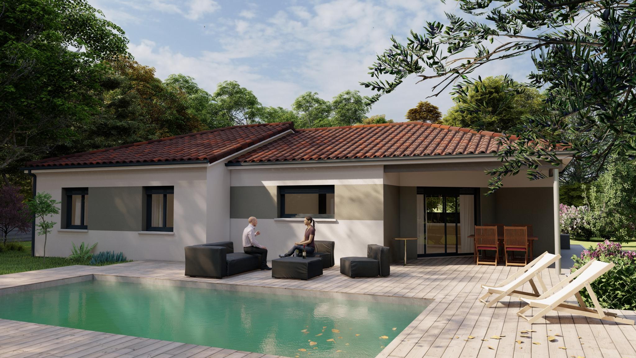 Vente maison à Fumel (47500) de 110 m2 habitable sur terrain de 1635 m2