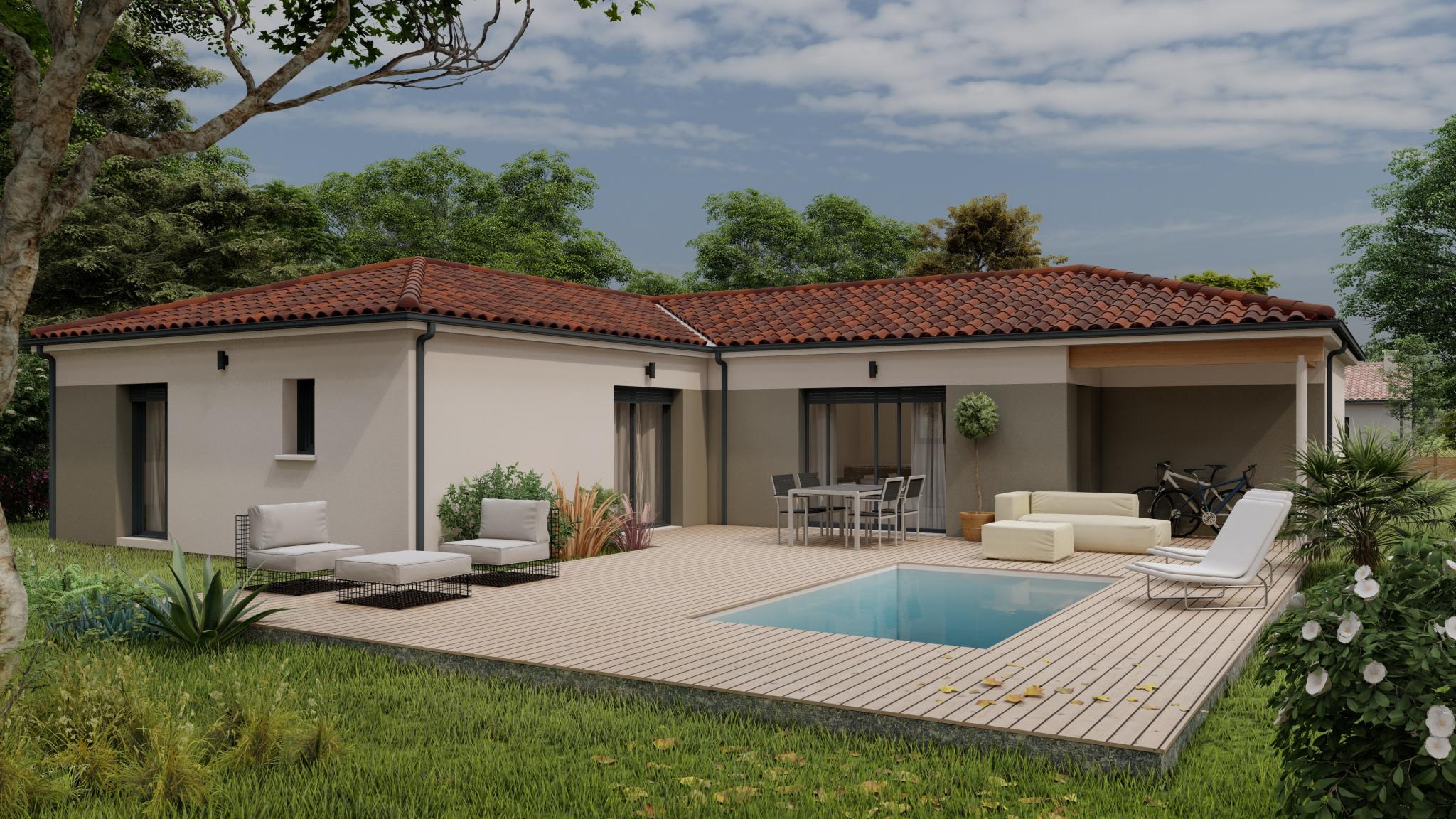 Vente maison à Fumel (47500) de 120 m2 habitable sur terrain de 1578 m2