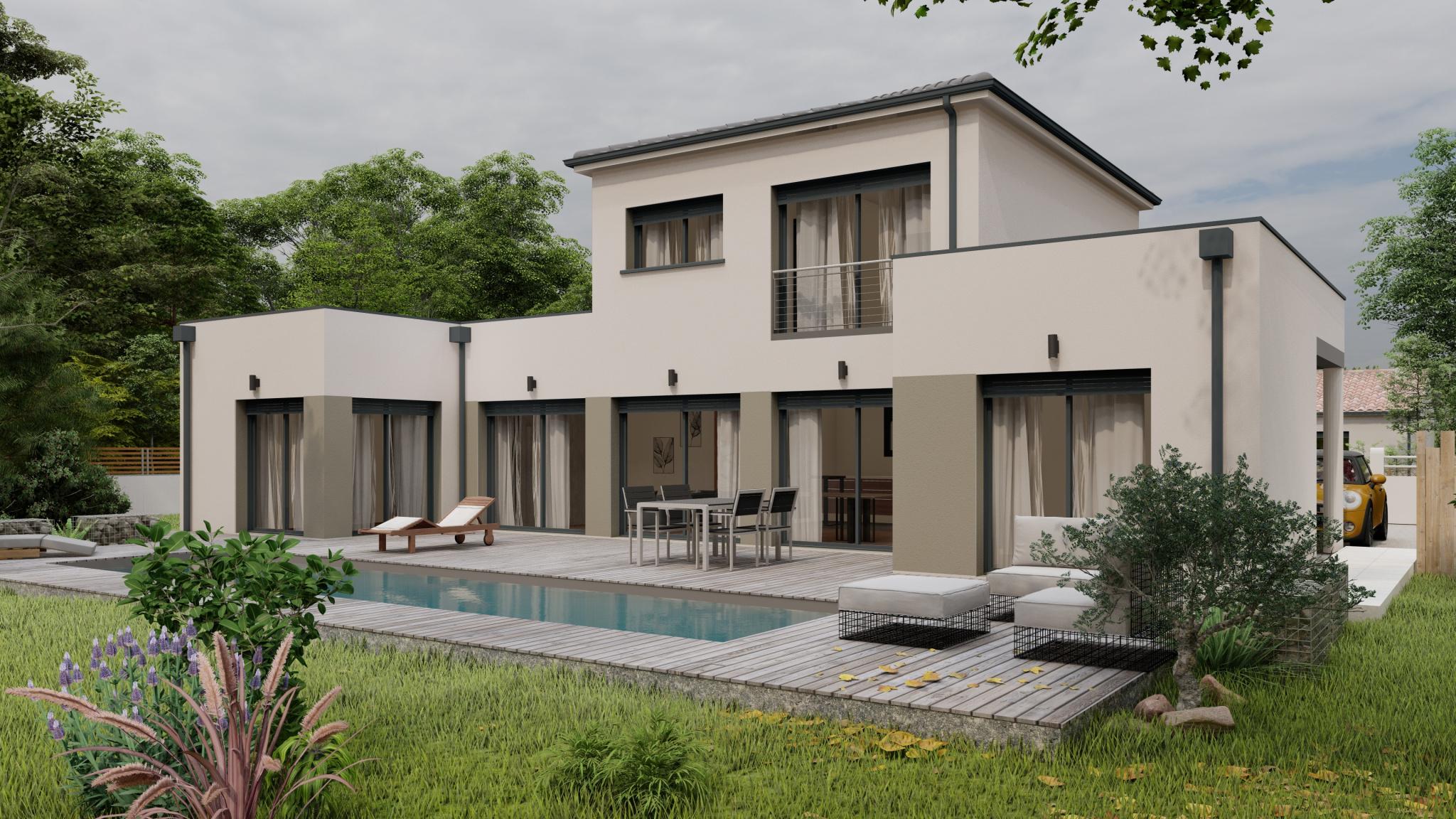 Vente maison à Montayral (47500) de 124 m2 habitable sur terrain de 1850 m2