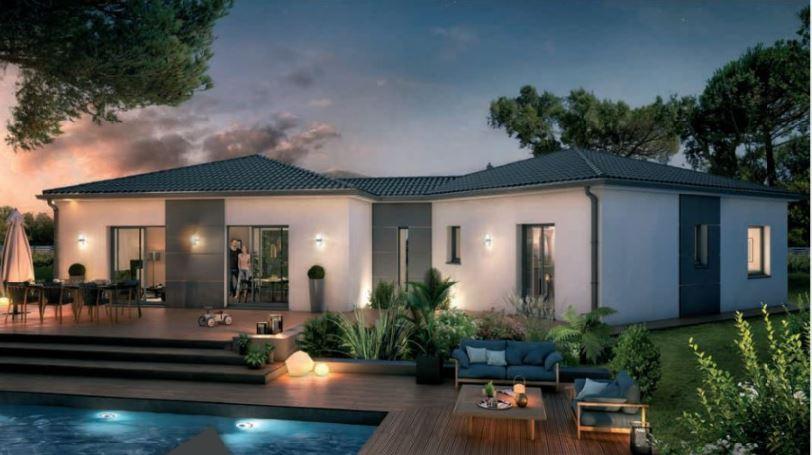Vente maison à Montsoue (40500) de 120 m2 habitable sur terrain de 803 m2