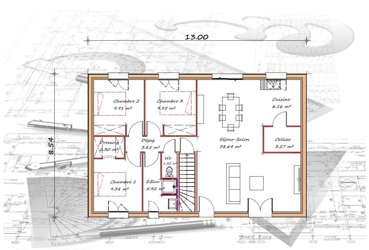 Vente maison à Pujols (47300) de 90 m2 habitable sur terrain de 1145 m2