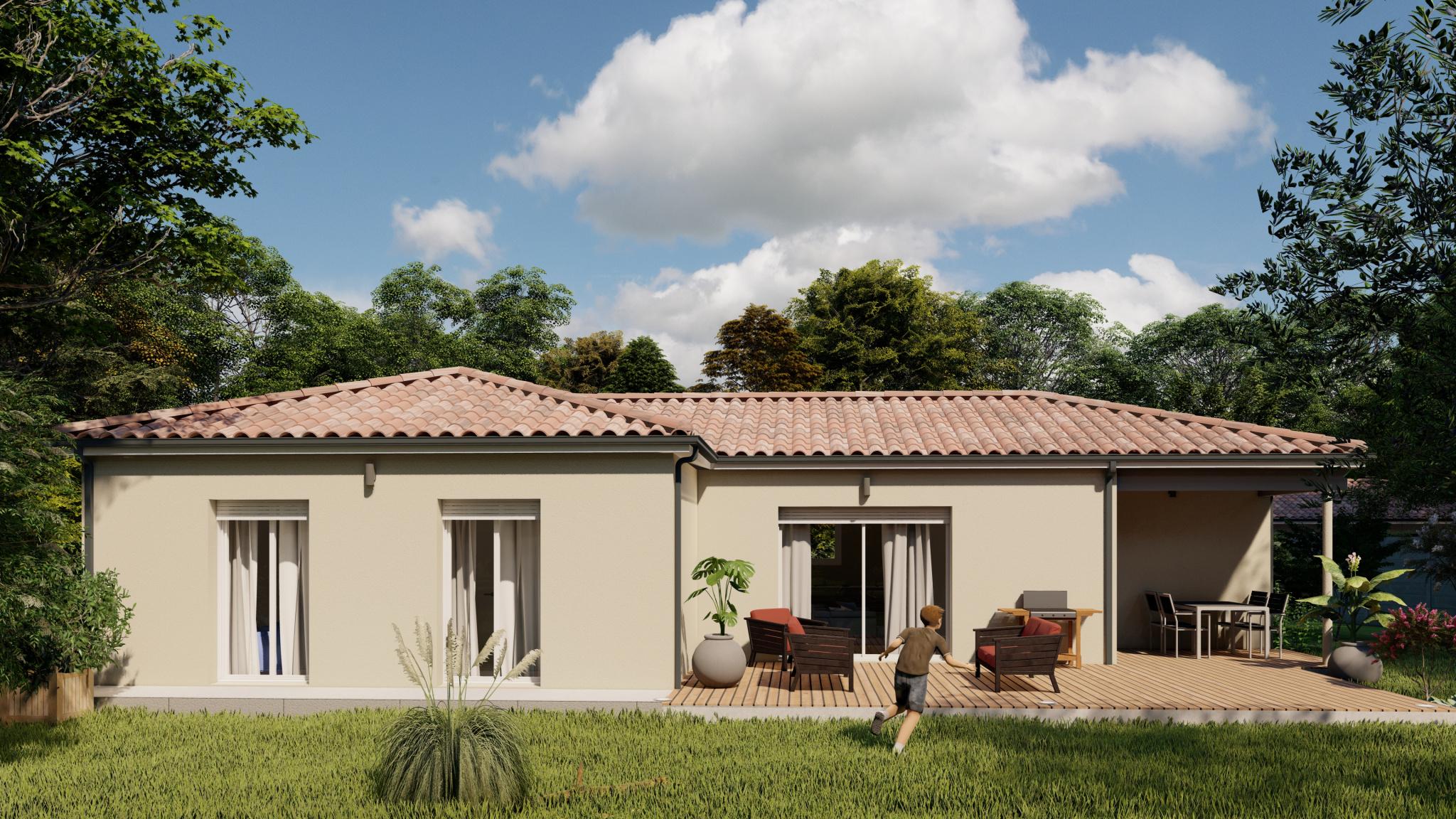 Vente maison à St maurice sur adour (40270) de 90 m2 habitable sur terrain de 1543 m2