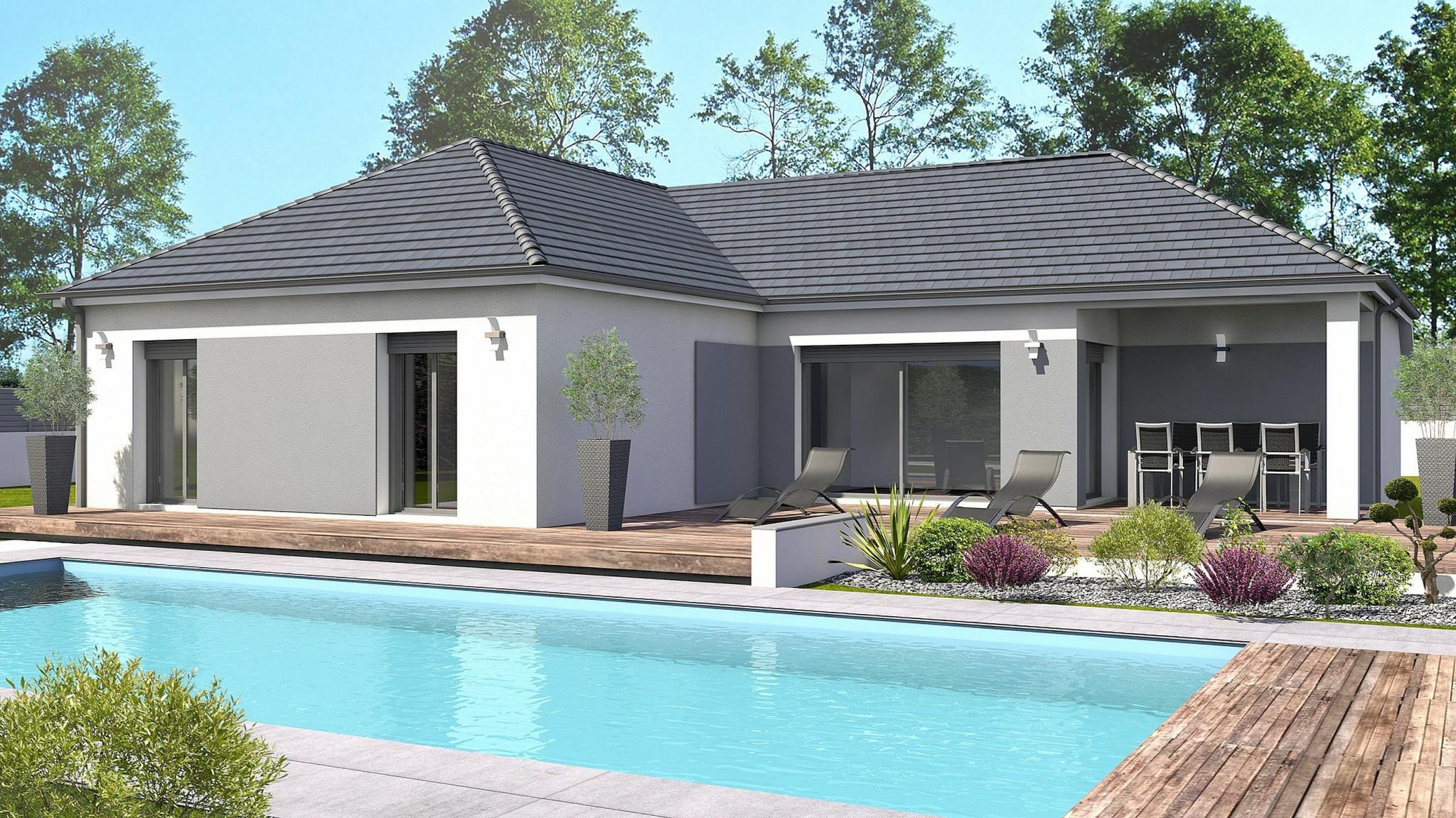 Vente maison à Uzein (64230) de 90 m2 habitable sur terrain de 666 m2